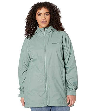 Columbia Plus Size Switchbacktm Lined Long Jacket (Light Lichen/Cool Green) Women