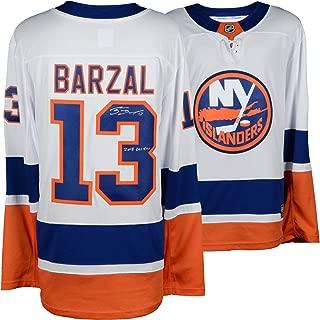 Mathew Barzal New York Islanders Autographed White Fanatics Breakaway Jersey with