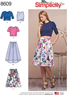 Simplicity US8609PS Women's Knit Tops and Skirt Sewing Patterns, Sizes 12-20