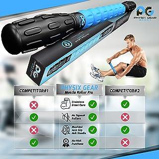 Muscle Roller Leg Massager - Best Massage Roller Stick for Athletes - Deep Tissue, Trigger Points, Cramps, Quads, Calf & H...