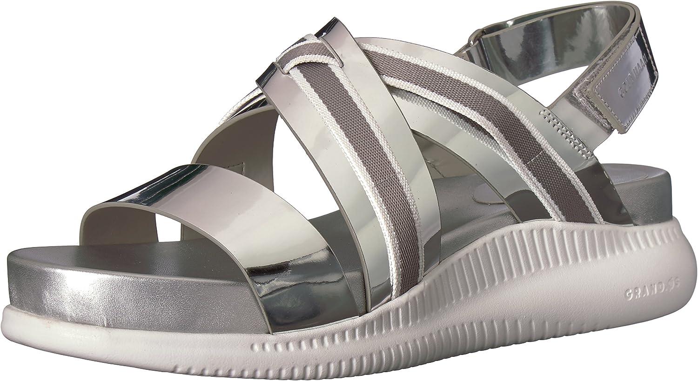Cole Haan Womens 2.Zerogrand Criss Cross Sandal Flat Sandal