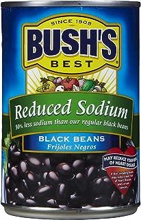 BUSH'S BEST Reduced Sodium Black Beans, 15 Ounce