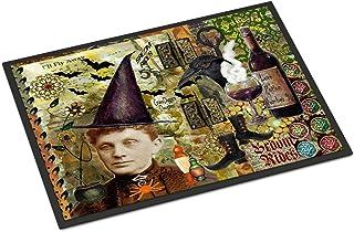 """Caroline's Treasures PJC1069MAT Broom Rides and Spells Halloween Indoor or Outdoor Mat, 18 x 27"""", Multicolor"""