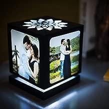 ZOCI VOCI Ready to Print Nostalgia Rotating Photo Lamp , 4.5 h x 4 w x 4-inch d, White