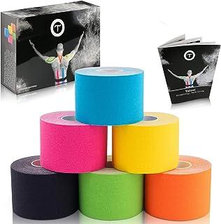 Talasi Kinesiologie Tape Set – 6 Rollen Mix zu je 5cm x 5m – inkl. Tape-Guide mit..