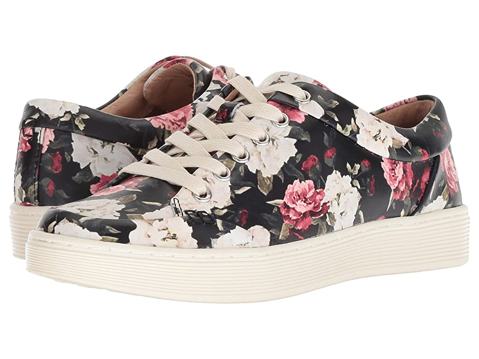 Sofft Sanders (Black Multi Garden Floral) Women's Lace up casual Shoes