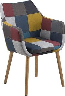 AC Design Furniture Trine Chaise en métal Multicolore 58 x 58 x 84 cm