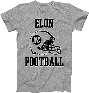 Vintage Football City Elon Shirt for State North Carolina with NC on Retro Helmet Style