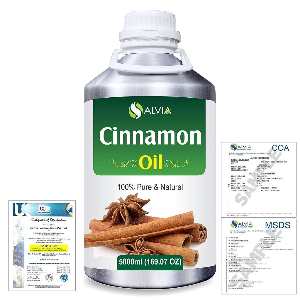 第九セッティング発火するCinnamon (Cinnamomum Cassia) 100% Natural Pure Essential Oil 5000ml/169fl.oz.