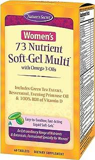 Nature's Secret Women's 73 Nutrient Multivitamin - Daily Essential Vitamins, Minerals, Antioxidants, Enzymes & Super Food ...