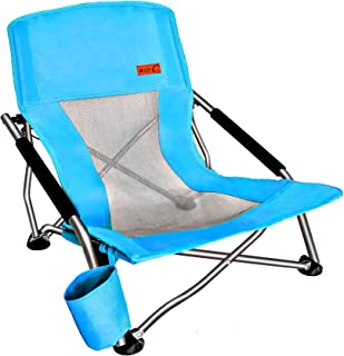 Nice C Low Beach Camping Folding Chair, Ultralight Backpacking Chair with Cup Holder..