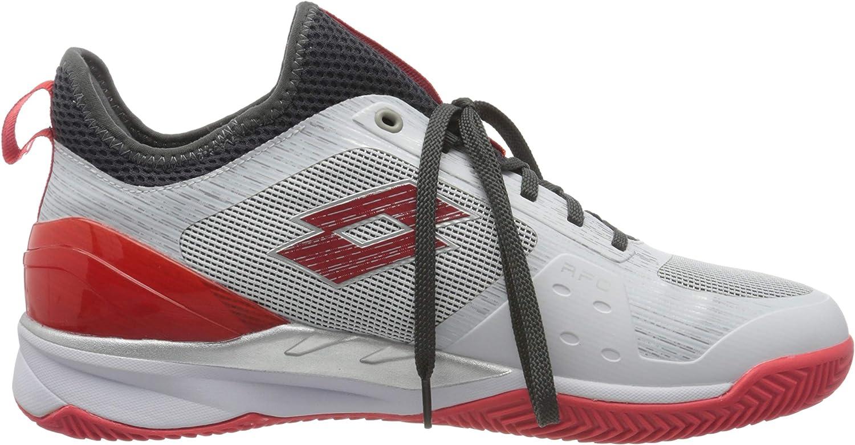 Lotto Mirage 200 Clay-all White//Red//Poppy Asphalt EU Scarpe da Tennis Uomo