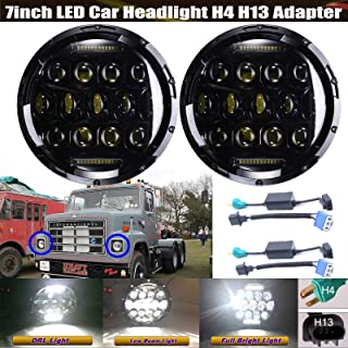 7 Inch Round Sealed Beam LED Headlights For International Harvester 4400/4300 / 4200, Super Bright All-In-One High Beam/Low Beam/DRL H6024 Conversion Kit