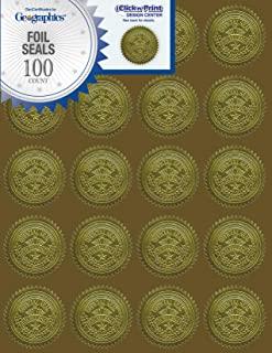 Geographics Gold Embossed Foil Seal, 100 per Pack (20014)