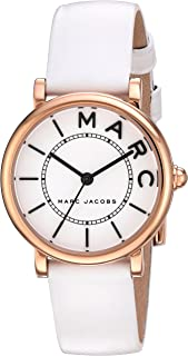 Marc Jacobs Womens Quartz Watch, Analog Display and Leather Strap MJ1562
