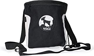 Yagi The Goat Chalk Bag - for Rock Climbing, and Bouldering with Large Powder Pouch fits Two Hands - Large Zip Pocket, Easy Clip Belt, Brush Strap - Boulder and Climber Gear Equipment