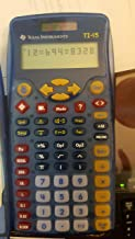 $39 » Texas Instruments TI-15 Scientific Calculator - 2 Line(s) - 11 Character(s) - Battery, Solar Powered 15/TBL/2L1/A