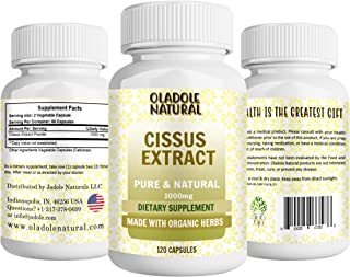 Oladole Natural Cissus Extract 1000 mg - Strong Bones & Healthy Joints 120 Capsules
