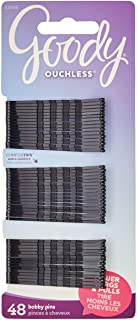 Goody Ouchless Bobby Pin, Crimped Black, 2 Inches, 48 Count (Pack of 1) (Packaging may vary)