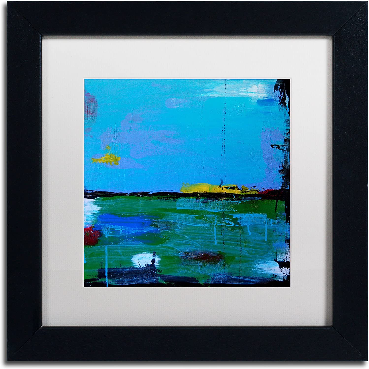 Trademark Fine Art Sunrise Art by Nicole Dietz in Black Frame, 11 by 11Inch, White Matte