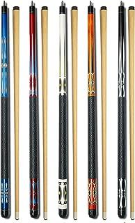 Set of 5 Pool Cues Billiard House Bar Pool Cue Sticks