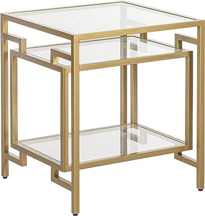 Adore Decor FUST10054A Gemma Side Table,  Gold