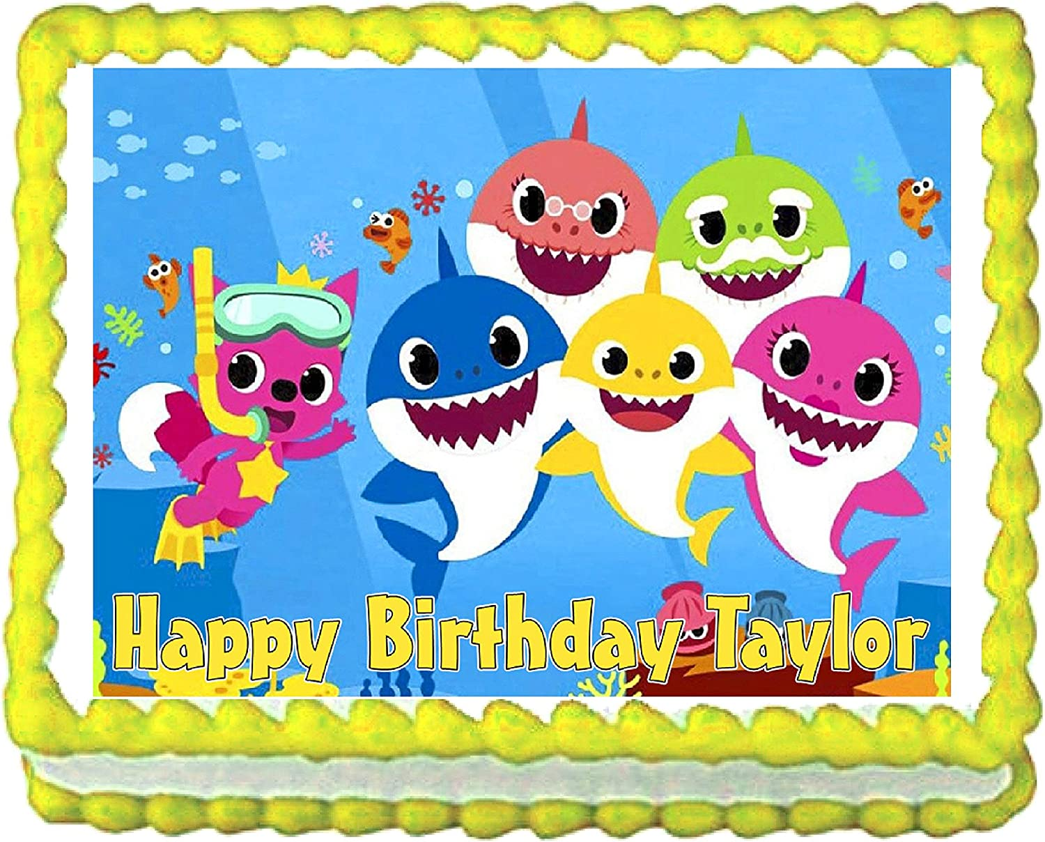 Cakes for Cures Baby Shark Edible Party Outstanding Fr Cake Decoration Max 47% OFF Image