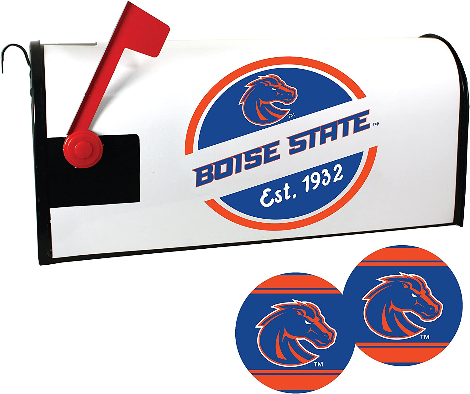 Boise State All items free shipping Broncos Special Campaign Magnetic Mailbox Set Cover and Sticker