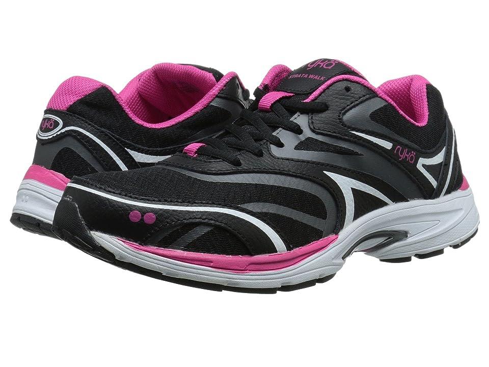 Ryka Strata Walk (Black/Meteorite/Ryka Pink/White) Women's Shoes
