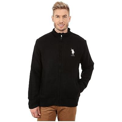 U.S. POLO ASSN. Sherpa Lined Sweater (Black) Men