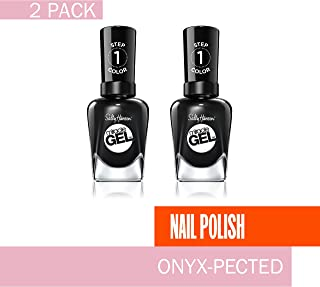 Sally Hansen Miracle Gel Onyx Pected, .5 Oz, Pack Of 2