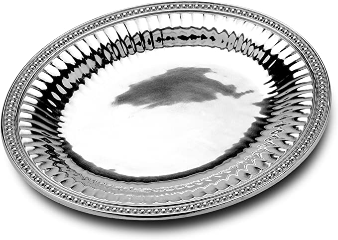Wilton Armetale Flutes Pearls Medium Oval Tray Kitchen Dining Amazon Com