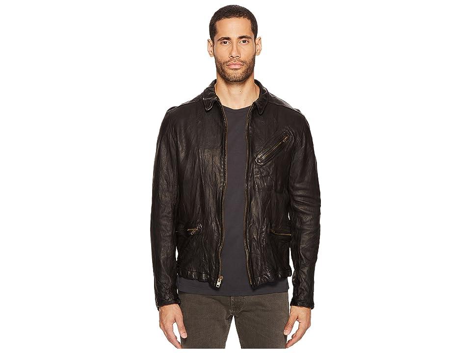 Image of Billy Reid Blake Leather Jacket (Black) Men's Coat