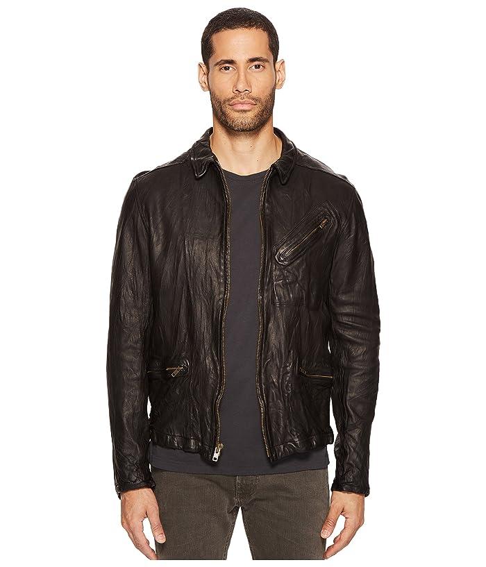 Billy Reid Blake Leather Jacket (Black) Men's Coat
