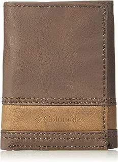 Columbia Men's RFID Blocking Leather Slim Trifold Wallet
