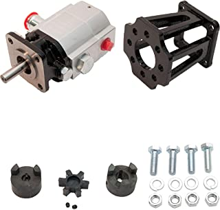 "ToolTuff Log Splitter Build Kit: 13 GPM Pump, Coupler, Mount, Bolts, for Huskee, Speeco, etc or DIY Splitter Project (for 3/4"" Engine Crankshaft)"