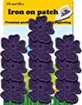 White Flower Patch 10 pcs Iron On Patch Embroidered Applique 1.89 x 1.96 inches Iron On Patches 4.7 x 5.0 cm A-154