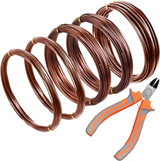 5 Roll Tree Training Wires 160 Feet Total with Bonsai Wire Cutter Anodized Aluminum Wire 1/ 1.5/ 2.0 mm Training Wire for ...