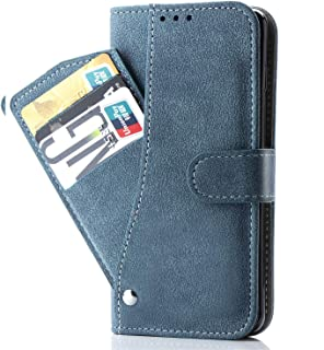 Asuwish Samsung J2 Prime/Grand Prime Plus/Go Prime/Grand Prime Wallet Case,Leather Phone Cases with Credit Card Holder Slot Kickstand Stand Flip Folio Protective Cover for Galaxy G532 /G530 Blue