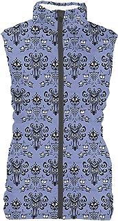 Rainbow Rules Haunted Mansion Wallpaper Mens Puffer Vest Bodywarmer Gilet