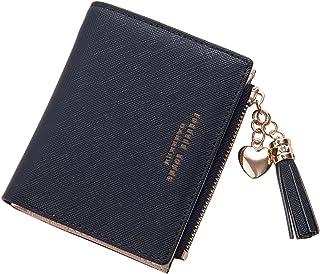 Belsmi Rfid Blocking Women Leather Wallet Lady Clutch Purse Zipper Pocket Card Holder Organizer Lightweight Bifold Wallets