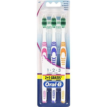 Oral-B Spazzolino Manuale Medio, Confezione da 3 Pezzi