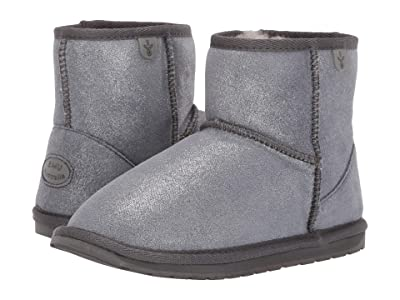 EMU Australia Kids Wallaby Mini Metallic (Toddler/Little Kid/Big Kid) (Charcoal) Kid