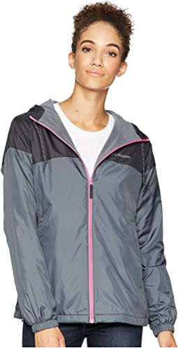 985bea10e65 Graphite Shark Wild Geranium. 26. Columbia. Flash Forward Lined Windbreaker