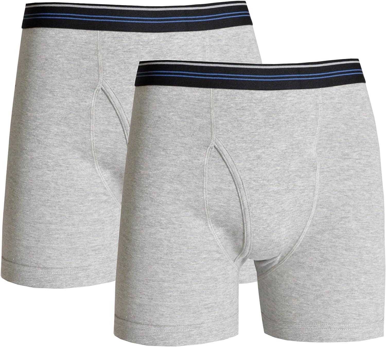 Watson's Men's 100% Cotton Underwear-2 Pack Boxer Brief