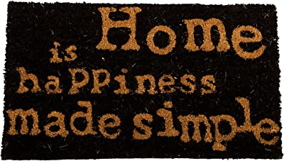 Decorative Coir Entrance Door Mat Home is Happiness… 70 cm x 40 cm
