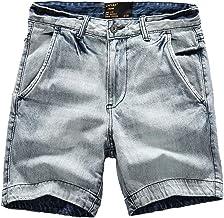 Denimshort voor heren Zomer Nieuwe stijl Verontruste wassing Comfortabele rechte stretchshort met grote zakken