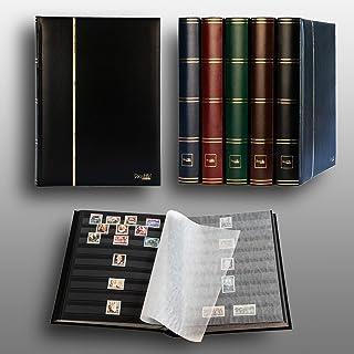 Prophila/Leuchtturm Classeur Album pour Timbres, 60 Pages, intérieur Noir (couv. Noir)
