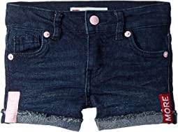 Levi's® Kids Embroidered Shorty Shorts (Toddler)