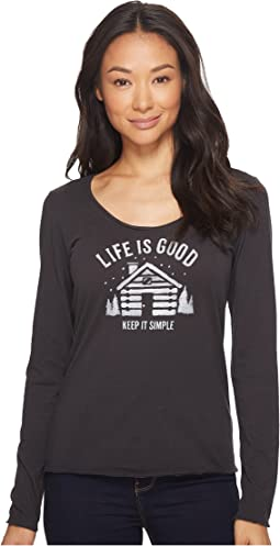 Life is Good - Simplify Cabin Long Sleeve Smooth Tee
